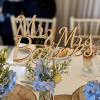Wooden laser cut wedding table name, freestanding table names