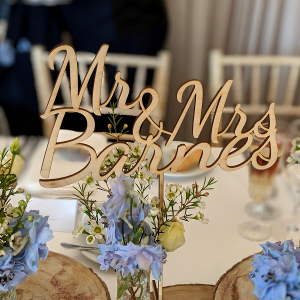 Laser cut TABLE NAME free standing Wooden Table Names Personalised Table Names wedding sign personalised table name Wedding table decoration